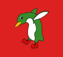 Christmas Green Penguin with Silver Ice Skates T-Shirt