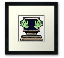 Hands of the Screen Framed Print