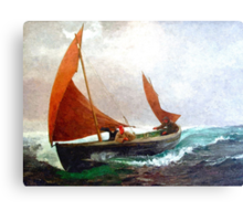 Colorful Seascape c Canvas Print
