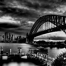 Sydney Harbour Bridge HDR B&W by Andrew  MCKENZIE