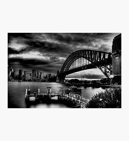 Sydney Harbour Bridge HDR B&W Photographic Print