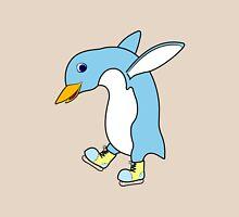 Christmas Light Blue Penguin with Yellow Ice Skates Unisex T-Shirt