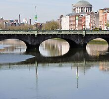 The Ireland Series-Liffey River Bridge, Dublin by Brandi  Reynolds