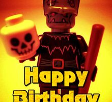 Happy Birthday Frankensteins Monster Custom LEGO® Minifigure by 'Customize My Minifig' by Chillee