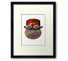 steampunk smileyface Framed Print