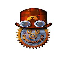 steampunk smileyface Photographic Print