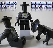 Happy Birthday Greeting Card LEGO® Custom Cyber Droid Shadow Soldier Minifigure  by Chillee