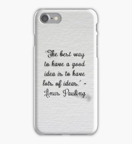 Thought For Every Day iPhone Case/Skin