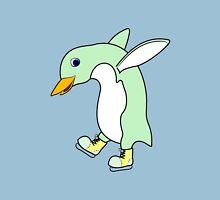 Christmas Light Green Penguin with Yellow Ice Skates T-Shirt