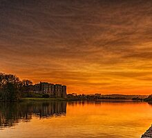 Carew Castle At Sunset by Steve Purnell