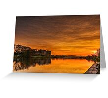 Carew Castle At Sunset Greeting Card
