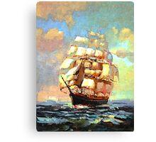 Colorful Seascape h Canvas Print