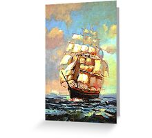 Colorful Seascape h Greeting Card