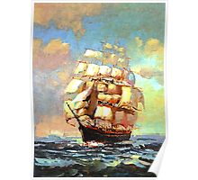 Colorful Seascape h Poster