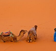 Morning pray at Erg Chebbi on edge of the Sahara by Konstantinos Arvanitopoulos