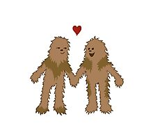 Wookiee love Photographic Print