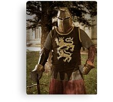 Knight At Arms Canvas Print