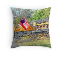 Wagons Of Yesteryear Throw Pillow
