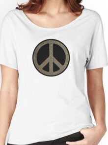 Peace,Love,Music Rusty Sign Women's Relaxed Fit T-Shirt