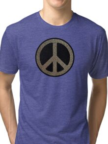 Peace,Love,Music Rusty Sign Tri-blend T-Shirt