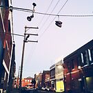 Shoes on Power Lines in Collingwood by Greg Tippett