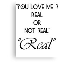 Hunger Games : Real or Not Real Canvas Print