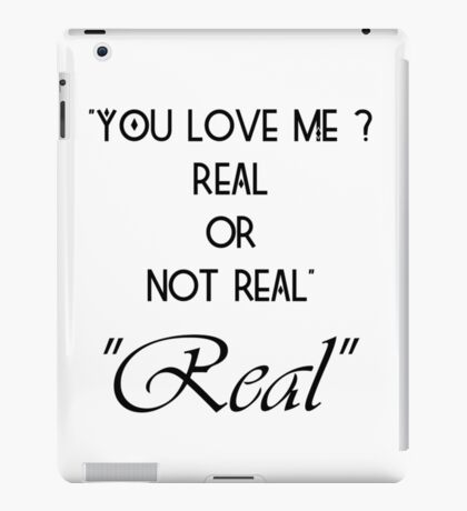 Hunger Games : Real or Not Real iPad Case/Skin