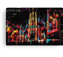 Crowds at the Museum - Vivid Sydney 2012 Canvas Print