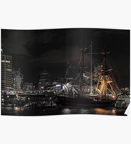 Tall Ship - Darling Harbour Poster