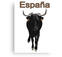 Espana, Spain, bull Canvas Print