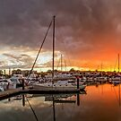 Sunset Storm - Raby Bay Qld Australia by Beth  Wode
