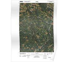 USGS Topo Map Washington State WA Skamokawa Pass 20110406 TM Poster
