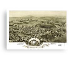 Panoramic Maps Edwardsville Pa 1892 Canvas Print