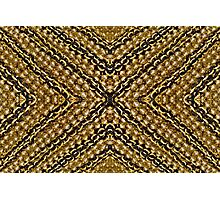 Black and Gold Chain Beads 2 Photographic Print