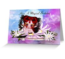 Daisy the water fairy birthday greeting card Greeting Card