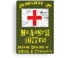 Property Of Mash 4077th Canvas Print