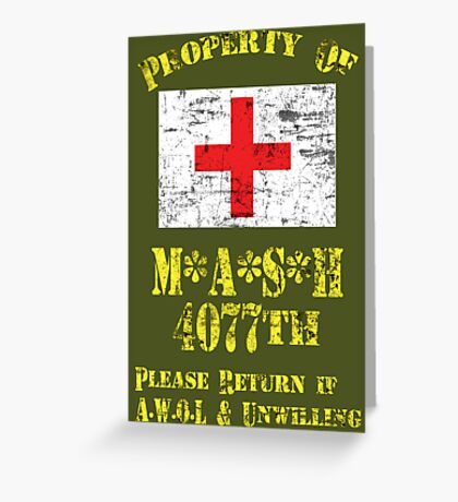 Property Of Mash 4077th Greeting Card