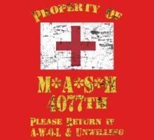 Property Of Mash 4077th Kids Tee