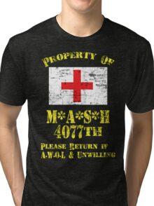 Property Of Mash 4077th Tri-blend T-Shirt