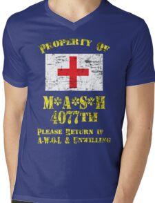 Property Of Mash 4077th Mens V-Neck T-Shirt