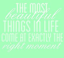 Exactly the Right Moment by Sierra deGroot
