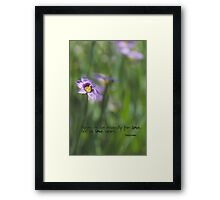 No Remedy for Love Framed Print