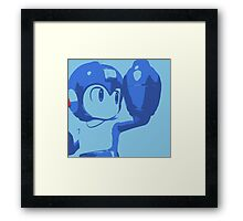The Blue (and cyan) Bomber Framed Print