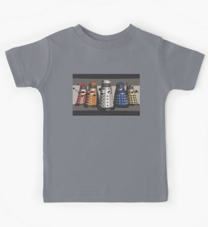 5 Shades of Dalek Kids Tee