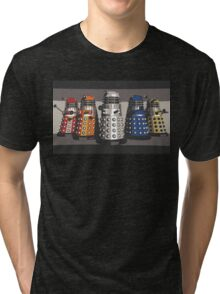 5 Shades of Dalek Tri-blend T-Shirt