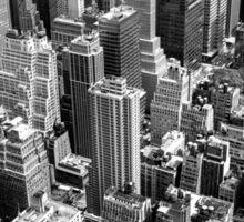 Manhattan in monochrome. Sticker