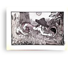 Country Girl: Critter Hunting Canvas Print