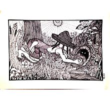 Country Girl: Critter Hunting Photographic Print