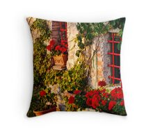 Red Under the Tuscan Sun Throw Pillow