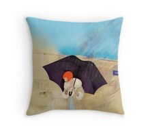 Rainy Day Flower Throw Pillow